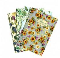Kroužkový blok Pigna Nature Flowers, A5 linkovaný, 60 listů
