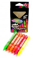 Voskovky Colorino neonové - extra měkké - 6 barev R92050