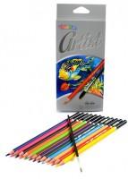 Akvarelové pastelky Colorino Fine Arts 12 barev + štětec R65528