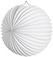 Bílý lampión, ohnivzdorný, 25 cm W 02504