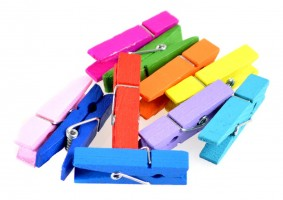 Kolíčky dekorační – barevné – 10 ks – 17169