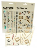 Tetovací obtisky - zlaté - 14,5 x 26,5 cm - UCO1603