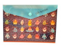 Plastový obal A5 s drukem - Cute Monsters - Argus -1647-0290