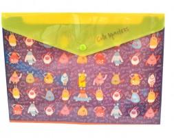 Plastový obal A4s drukem - Cute Monsters- Argus -1650-0290
