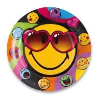 Papírové talířky - Smiley Express - 8 ks - 0556/5524260