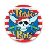Papírové talířky - Pirate party - 8 ks - 0556/5582210