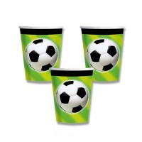 Papírové kelímky - Fotbal - 8 ks - 0556/5870400
