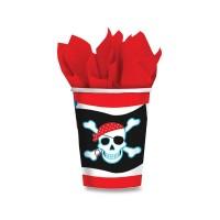 Papírové kelímky - Pirate party - 8 ks - 0556/5882210