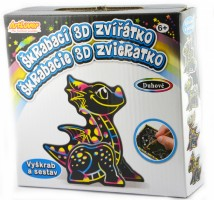 Škrabací 3D zvířátko - Draci -SCD-3D-MB008