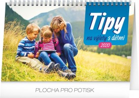 Kalendář stolní - Tipy na výlety s dětmi 23,1 × 14,5 cm PGS-7322