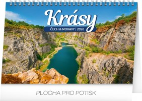 Kalendář stolní - Krásy Čech a Moravy 23,1 × 14,5 cm PGS-6872