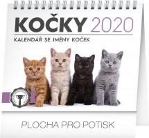 Kalendář stolní - Kočky – se jmény koček 16,5 × 13 cm PGS-6923