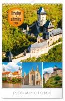 Kalendář nástěnný - Hrady a Zámky 33 × 46 cm PGN-6626-L