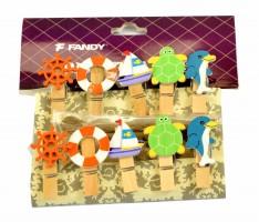 Kolíčky dekorační - Shapes 11 - Plachetnice - 170433