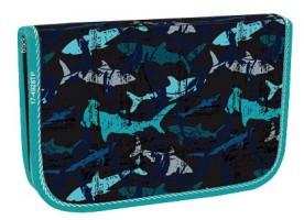 Školní penál jednopatrový - Stil - 2 klopy - Shark - 1523446