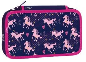 Školní penál Stil - 3 patra bez náplně -  Pink Unicorn - 1523457