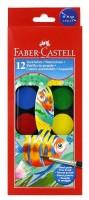 Vodové barvy Faber Castell 12 ks - velké - průměr 30 mm 0144/1900130