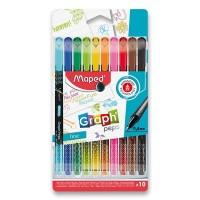Liner - Maped Graph'Peps Deco - sada 10 barev - 0071/9749050