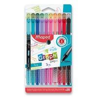 Liner - Maped Graph'Peps Deco - sada 20 barev - 0071/9749051
