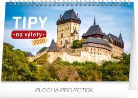 Kalendář stolní - Tipy na výlety 2020 - 23,1 x 14,5 cm - PGS-6869