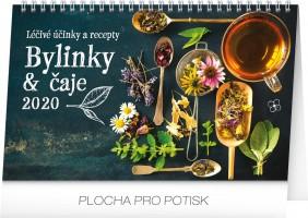 Kalendář stolní - Bylinky a čaje 2020 - 23,1 x 14,5 cm - PGS-6883