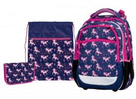 Školní set Stil - junior - pink unicorn - 1523580