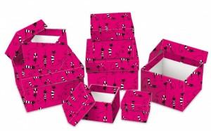 Dárková krabice Lux - set H - krychle, 8 ks - 501110