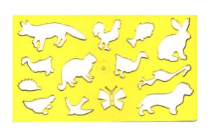 Šablona zvířátek liška - 749056