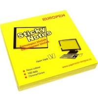 Samolepící bloček Neon 75 x 75 mm - žlutý