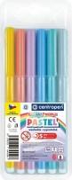 Dětské fixy - Centropen Colour World - Pastel - 6 ks - 7550/6