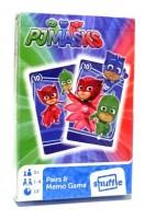 Dětské hrací karty 2 v 1 - Černý Petr + Karetní pexeso - PJM Masks - 0672