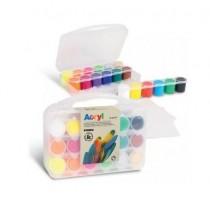 Akrylové barvy PRIMO - 18 x 25 ml - 2x miniplátno - M-416TB18ASP