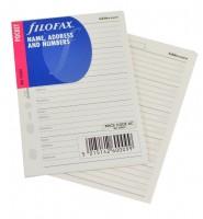 Filofax adresář - náplň do kapeního diáře210201