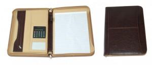 Portfolio A4 s kalkulačkou hnědé 40739