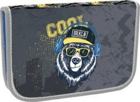 Školní penál jednopatrový - Stil - 2 klopy - Cool Bear - 1523654