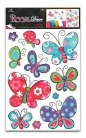 Pokojová dekorace velká - Motýli 70 x 42 cm