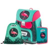 Školní 3 dílný set - Karton P+P - Premium - Plameňák - 0-81420