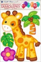 Samolepky na zeď 3D balónková - Žirafa 10271