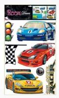 Pokojová dekorace závodní auta 70 x 42 cm