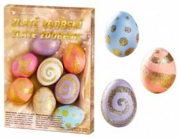 Sada k dekorování vajíček - zlaté zdobení - 7720