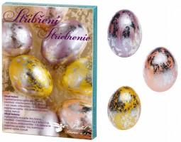 Sada k dekorování vajíček - stříbření - 7728
