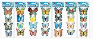 Motýli s glitry 4 ks - 1012