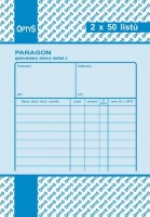Paragon daňový doklad A6 2 x 50 listů OP 1041