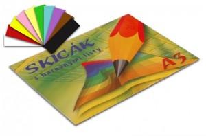Skicák A3 - 10 barevných listů
