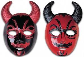 Glitrová maska Čert