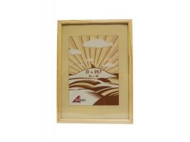 Rámeček na foto 21x 30 cm - světlé dřevo