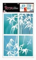 Pokojová dekorace bambus modrý 4 obdelníky 70 x 42 cm - 1037