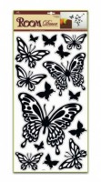 Pokojová dekorace černí motýli 69 x 30 cm - 1083