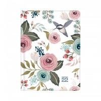 Denní diář Albi B6 - bílý s květy - 17174
