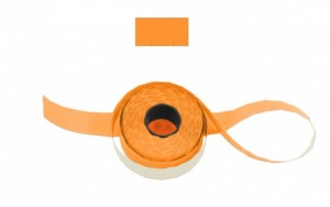 Cenové - značkovací etikety 25 x 16 Contact hranaté oranžové